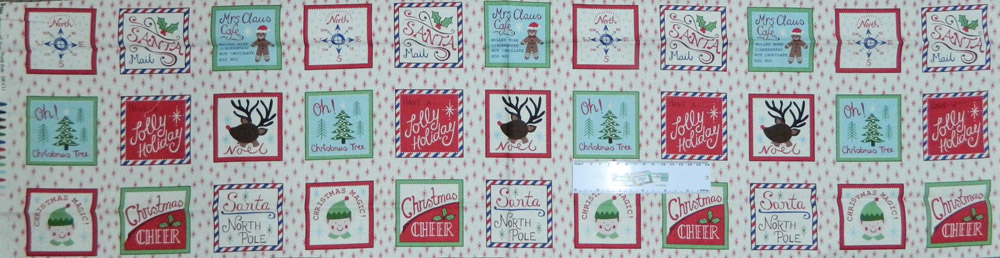 Patchwork Quilting Sewing Fabric NORTH POLE CHRISTMAS Panel 30x110cm New