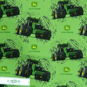 Patchwork Quilting Fabric JOHN DEERE LARGE TRACTORS GREEN Cotton FQ 50X55cm NEW