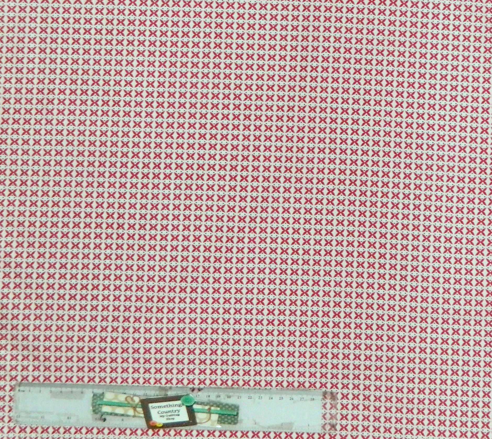 Quilting Patchwork Sewing Cotton Fabric RED CROSSES ON WHITE Wider 150x50cm New