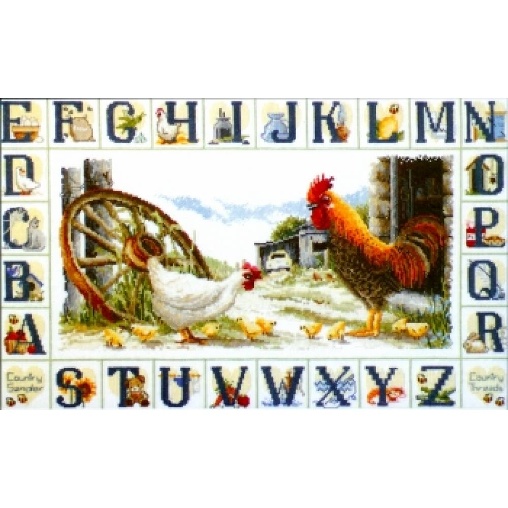 Country Threads Cross Stitch Counted X Stitch Pattern Graph COUNTRY SAMPLER New FJ-1009