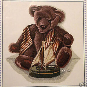 DMC Cross Stitch Kit VINTAGE BEARS DUSTY AND BOAT X Stitch NEW incl Thread KIT