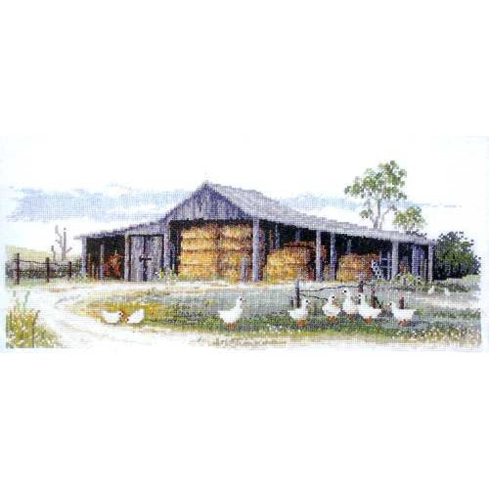 Country Threads Cross Stitch Counted X Stitch Pattern Graph HAY SHED New FJ-1020