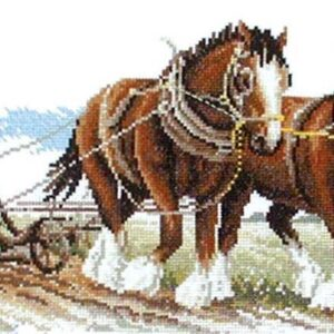 Country Threads Cross Stitch Counted X Stitch Pattern Graph CLYDESDALES New FJ-1019