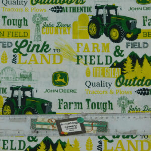 Patchwork Quilting Fabric JOHN DEERE TRACTOR FARM TOUGH Cotton FQ 50X55cm NEW