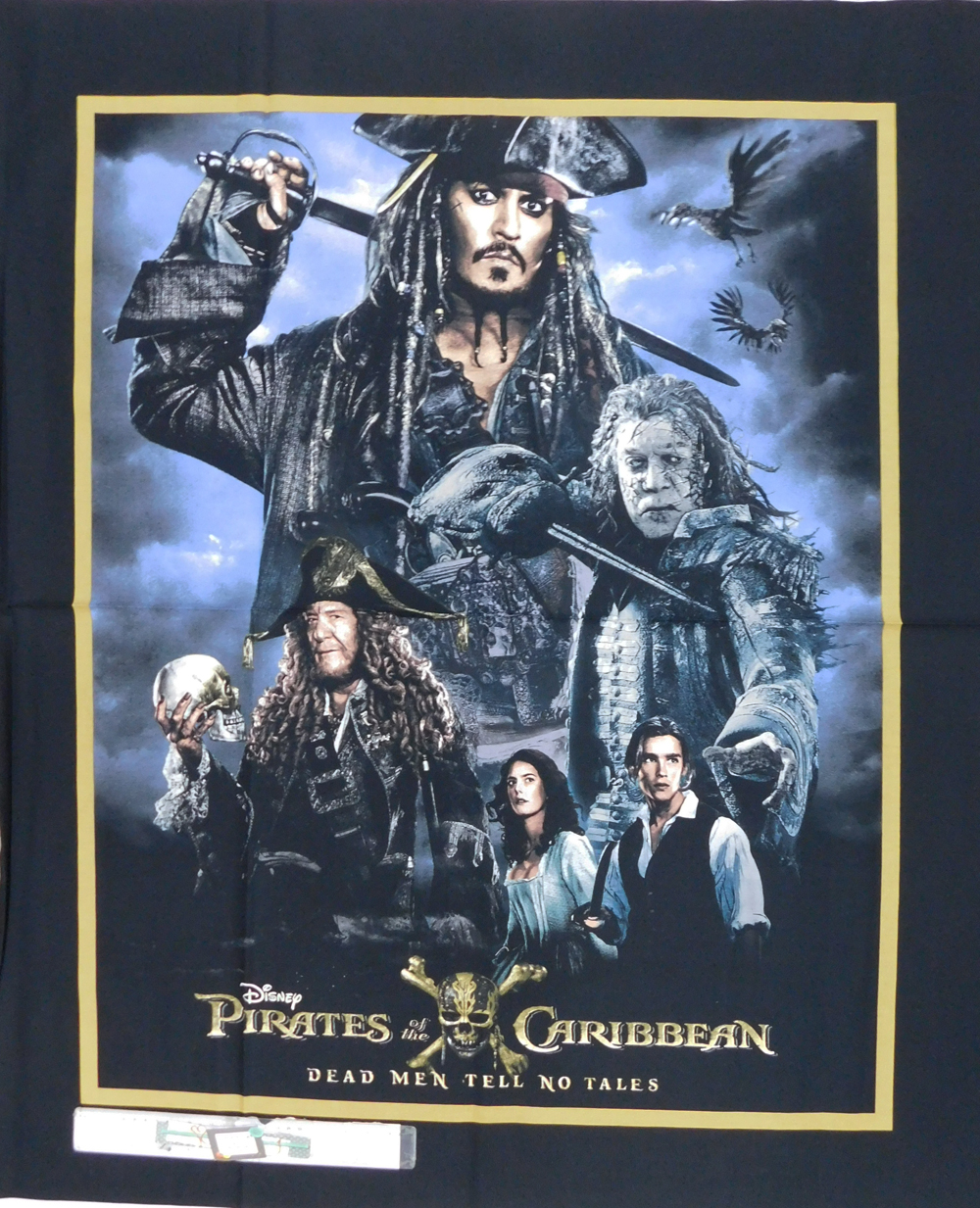 Patchwork Quilting Sewing Fabric JOHNNY DEPP PIRATES OF CARIBBEAN Panel 90x110cm New