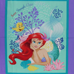 Patchwork Quilting Sewing Fabric DISNEY ARIEL LITTLE MERMAID Panel 90 x 110cm New