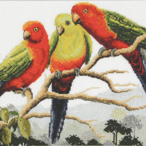 Country Threads Cross Stitch Counted X Stitch Pattern Graph KING PARROTS New