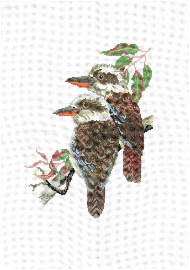 DMC Cross Stitch Counted X Stitch KIT KOOKABURRAS IN AN OLD GUM TREE New