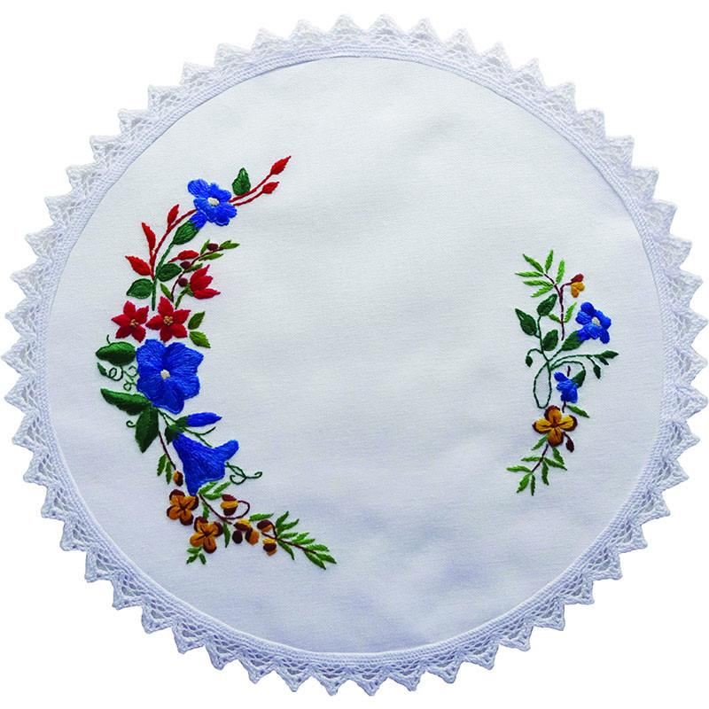 Printed stamped embroidery cm doily hand stitching