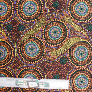 Patchwork Quilting Sewing Fabric ABORIGINAL WINTER SPIRITS Material 50x55cmFQ New