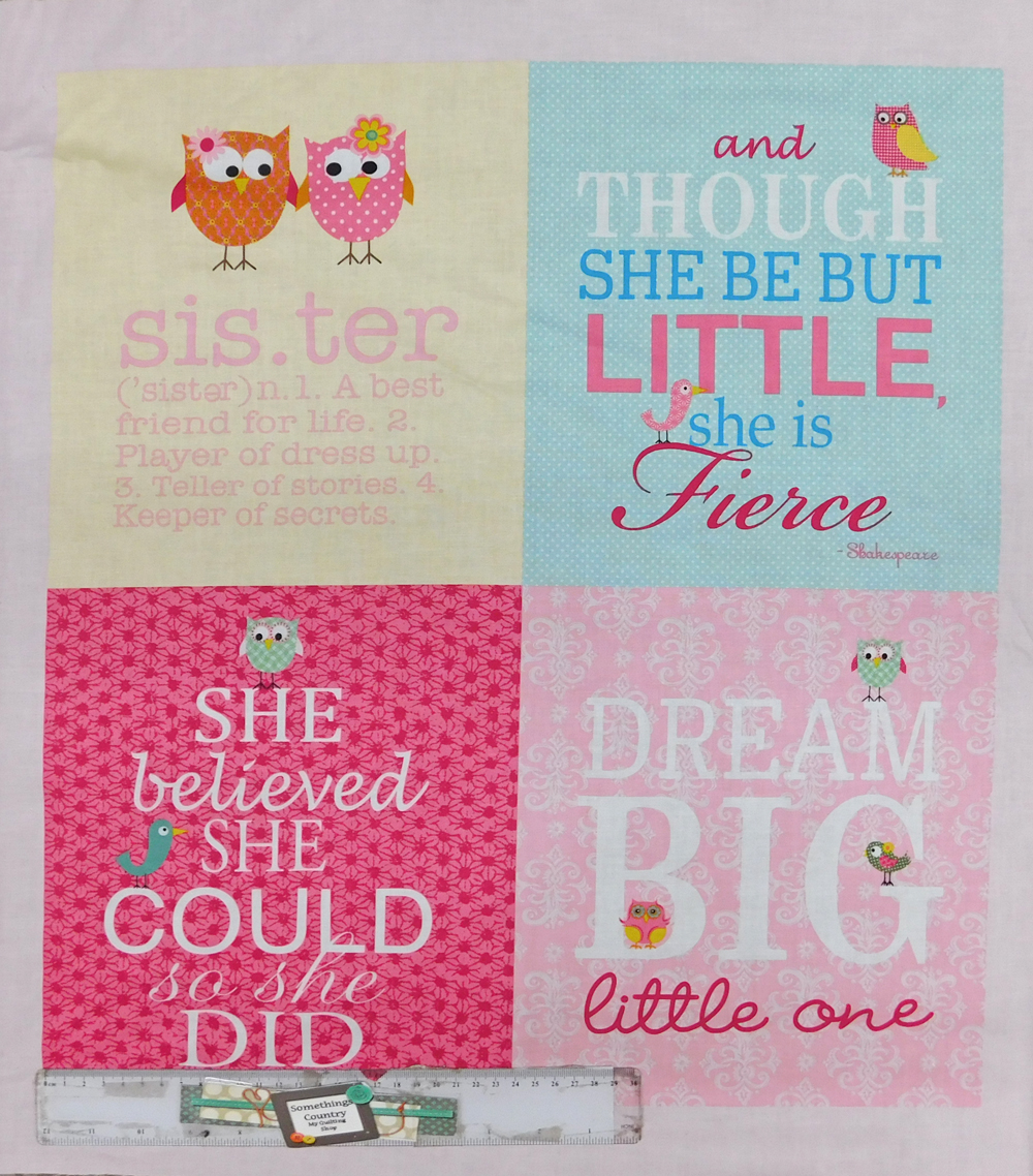 Patchwork Quilting Sewing Fabric LITTLE GIRL Cotton Material Panel 60x55cm New