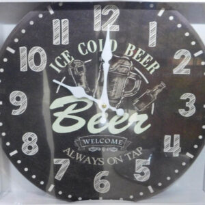 Clock Country Vintage Inspired Wall Clocks 58CM ICE COLD BEER ON TAP New