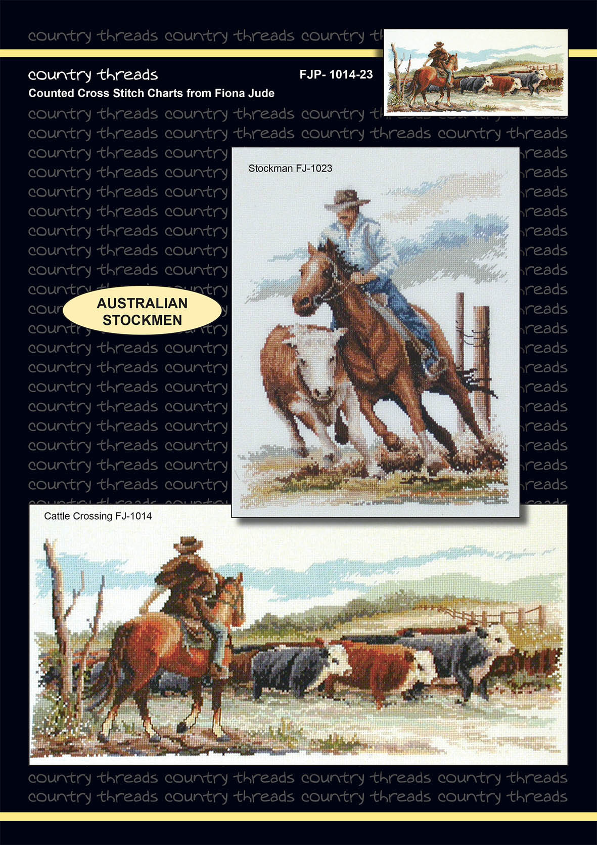 Country Threads Cross Stitch Counted X Stitch Pattern Graph STOCKMAN New