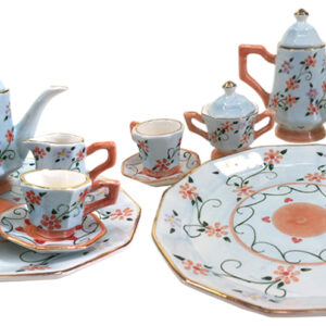 French Country Chic Kitchen MINIATURE BLUE & ORANGE Set 6 New FREEPOST