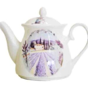 French Country Lovely Teapot LAVENDAR China Tea Pot 1 with Giftbox FREEPOST NEW