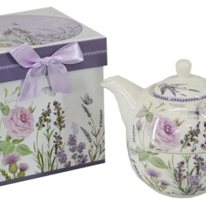 French Country Lovely Teapot LAVENDER TEA FOR ONE with Gift box FREEPOST NEW