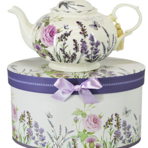 French Country Lovely Kitchen Teapot LAVENDER China Tea Pot