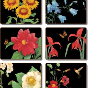 Country Kitchen BOTANICALS 2 Cork Backed Placemats or Coasters Set 6 NEW Cinnamon