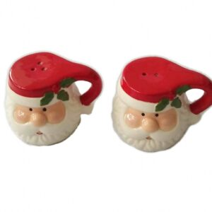 French Country Chic Collectable Salt and Pepper Set Christmas SANTA CLAUS New