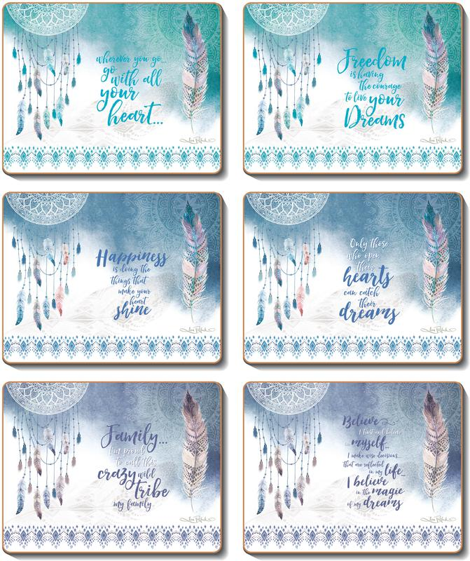 Country Kitchen FEATHERS & DREAMS Cork Backed Placemats Or