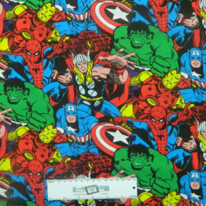 Patchwork Quilting Sewing Fabric MARVEL AVENGERS Allover Material 50x55cm FQ New