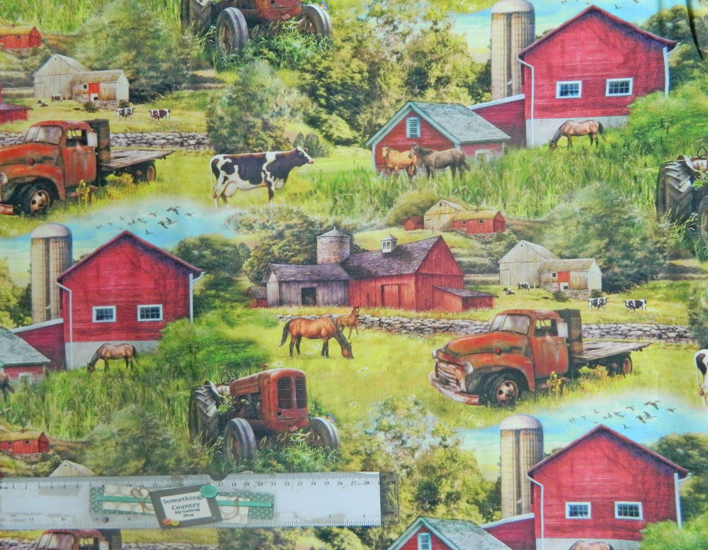 Patchwork Quilting Sewing Fabric FARMYARD FRIENDS Cotton Material 50x55cm FQ New