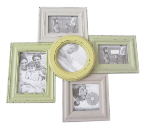 French Country Vintage Inspired Wall Photo Collage Greens Greys ...