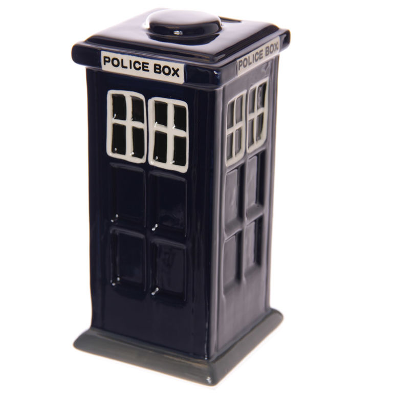 Collectable Gift DR WHO POLICE BOX Kitchen MONEY BOX FREEPOST New