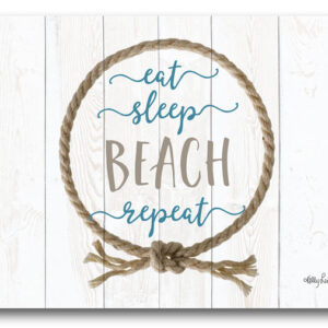 Cork Backed Placemats AND Coasters EAT SLEEP BEACH REPEAT Set 6 NEW