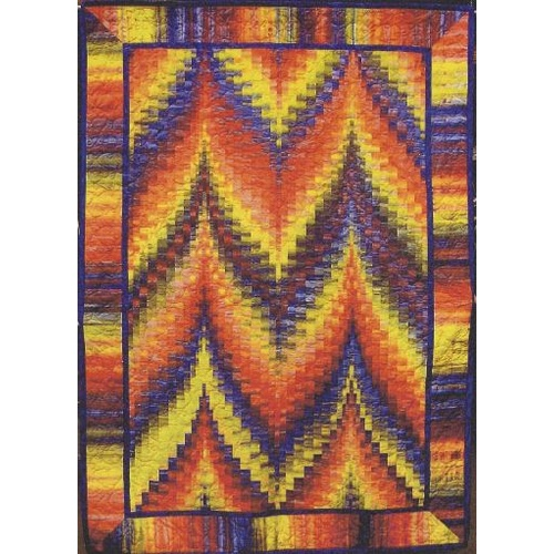 Quilting Sewing Quilt Pattern TWIN PEAKS SHIMMERING BARGELLO Patchwork NEW
