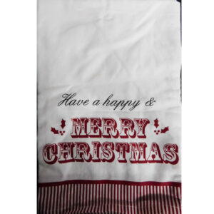 Christmas Santa Have a Happy MERRY CHRISTMAS Set 2 Tea Towels New