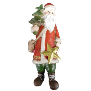 Christmas Santa Ornaments Xmas Free Standing with Tree New