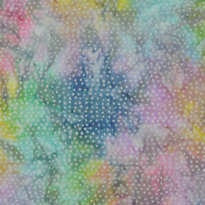 Patchwork Quilting Sewing Fabric BATIK PASTEL RAINBOW SPOTS 50x55cm FQ New