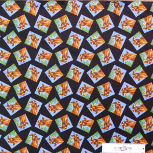 Patchwork Quilting Sewing Fabric OLD FARMSTEAD GOATS 50x55cm FQ New