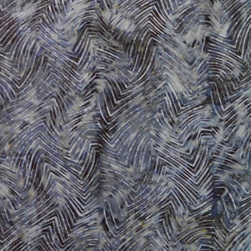 Quilting Patchwork Sewing Fabric BATIK GREY ZIG ZAGS B 50x55cm FQ NEW