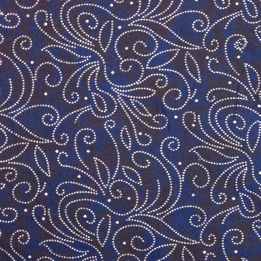 Quilting Patchwork Fabric NAVY WITH SILVER SWIRL SPOTS Wide BACKING 280x50cm New