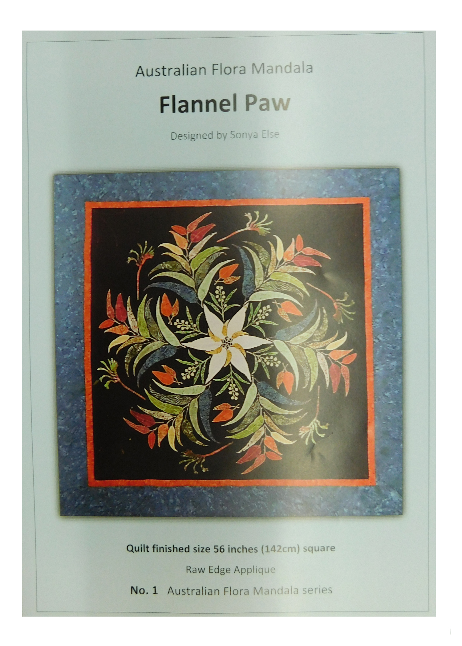Quilting Sewing Australian Flora Mandala Quilt Pattern FLANNEL PAW New