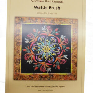Quilting Sewing Australian Flora Mandala Quilt Pattern WATTLE BRUSH New
