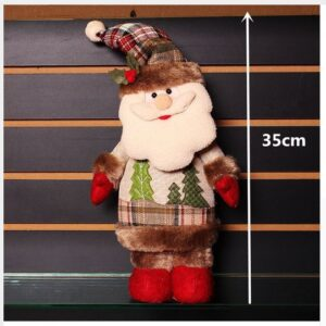 Country Christmas Plush Standing Santa Claus Red Boots Tree Coat New