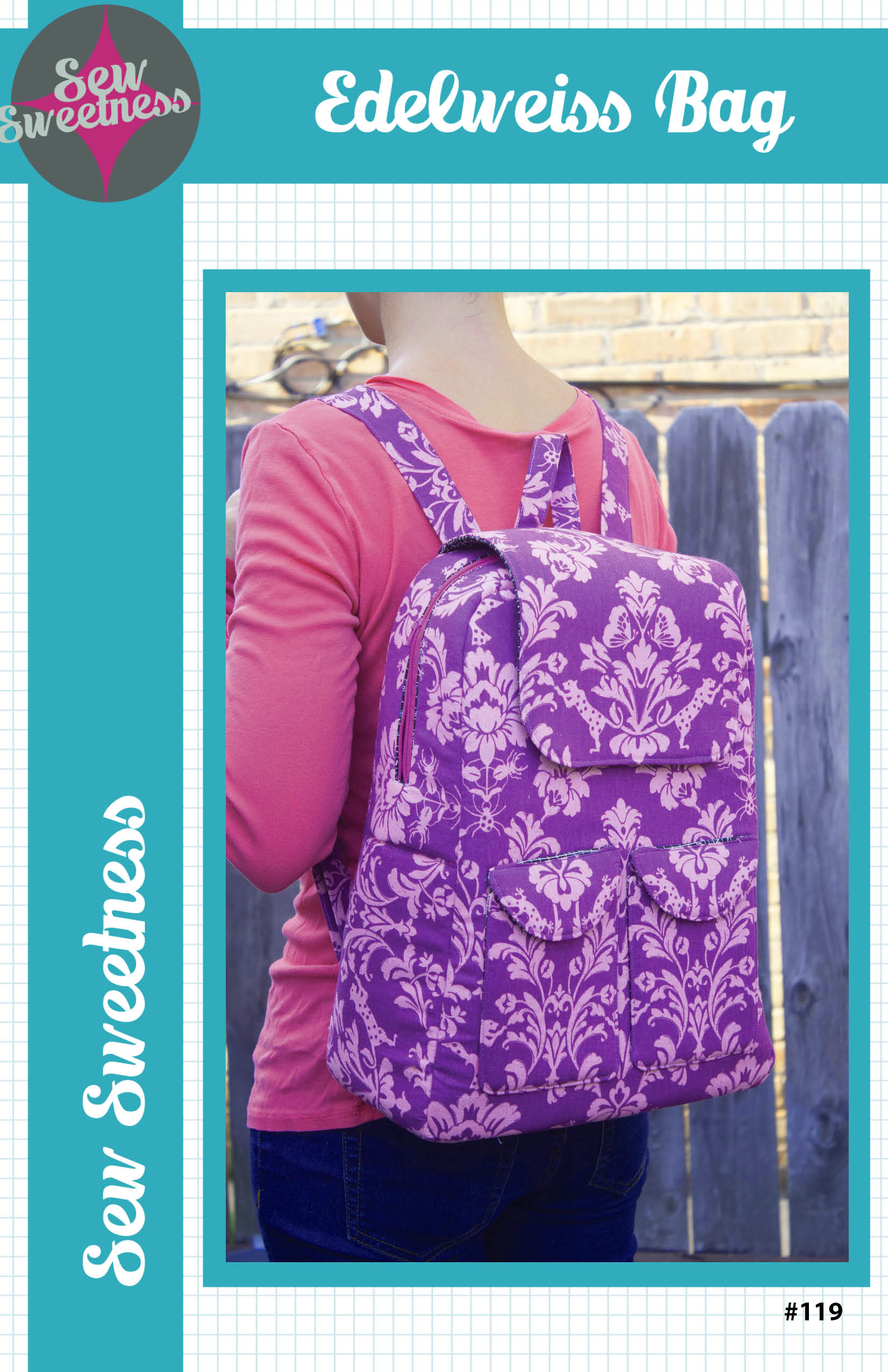 Quilting Sewing Bag Pattern ADELWEISS BAG by Sew Sweetness NEW