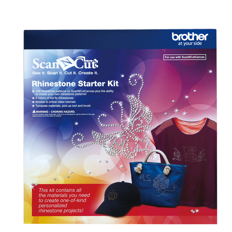 Brother Scan N Cut or Design N Cut New RHINESTONE STARTER KIT + Bonus New
