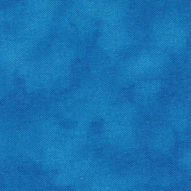 Patchwork Quilting Sewing Fabric Mystique D689692 Mid Blue 50x110cm 1/2m New