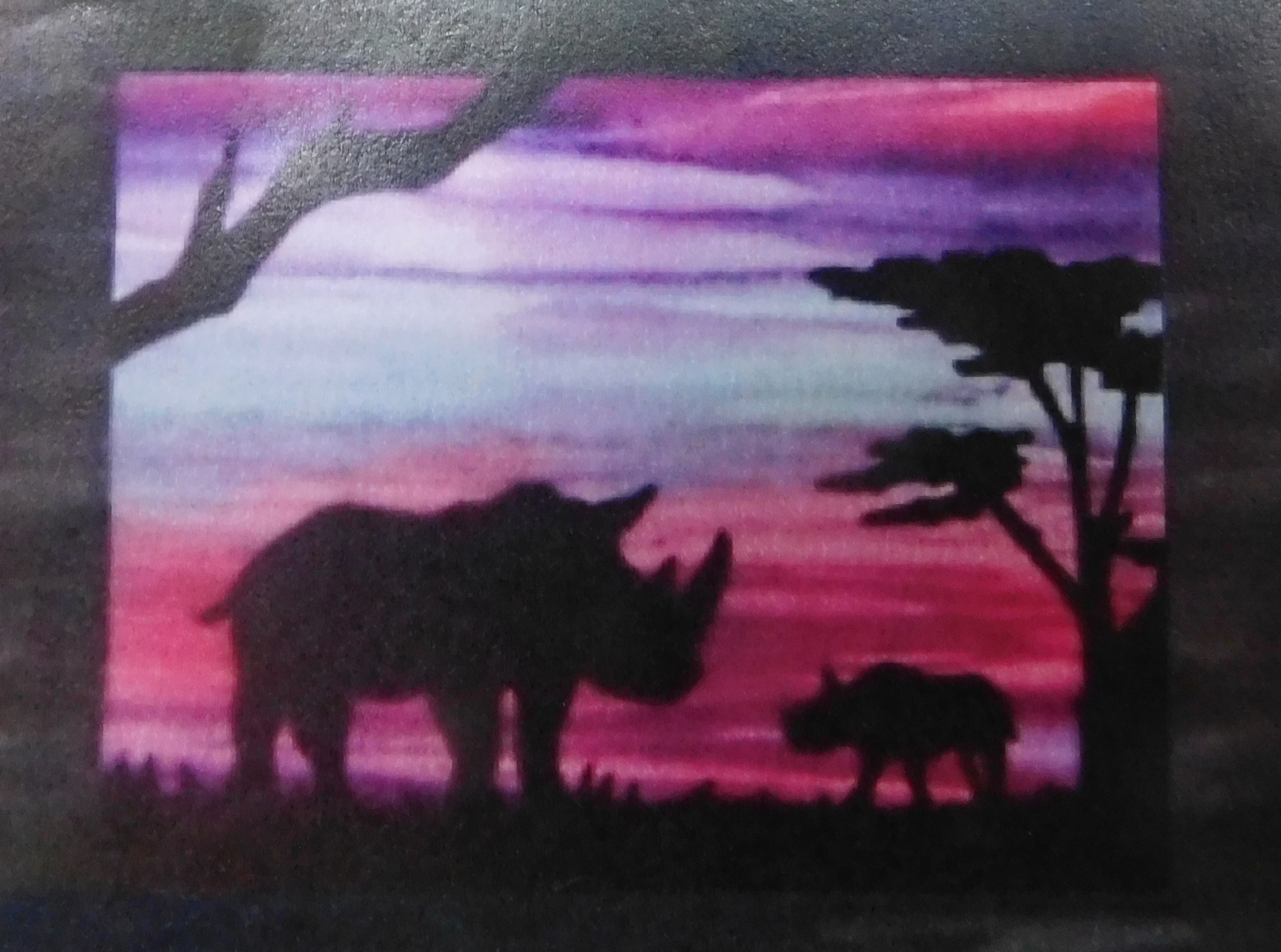 Quilting Sewing African Animal Quilt Pattern Kit including Fabric RHINO New
