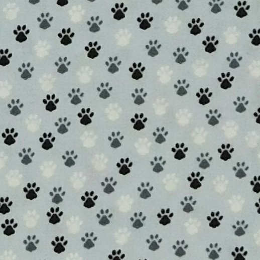 Patchwork Quilting Sewing Fabric DOG CAT PAWS Material 50x55cm FQ Cotton New