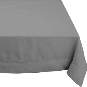 French Country Table Cloth HEMSTITCH Tablecloth GREY Assorted Sizes New