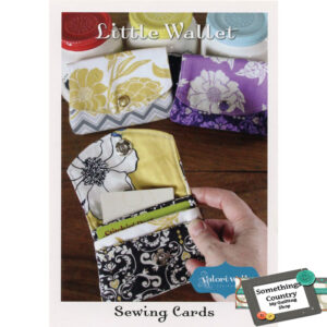 Quilting PURSE Pattern LITTLE WALLET Sewing Card by Valori Wells New