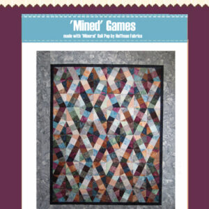 Quilting Sewing Patchwork MINED GAMES BY BASIX Pattern Quilts New