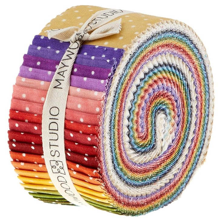 Quilting Jelly Roll Sewing BEAUTIFUL BASICS CLASSIC DOTS 2.5 Inch Strips Cotton Fabrics New