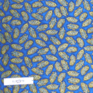 Patchwork Quilting Sewing Fabric PEACOCK FEATHERS 50x55cm FQ New