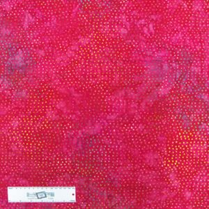 Patchwork Quilting Sewing Batik Fabric RED CONFETTI 50x55cm FQ New